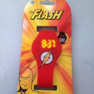 The Flash Red Silicone LED Watch NEW NWT